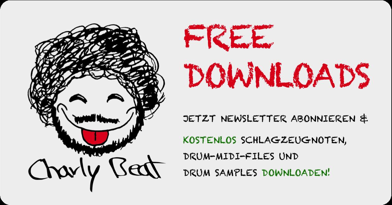Free Downloads von Midi Noten (Drumset), Schlagzeugnoten und Drum Samples