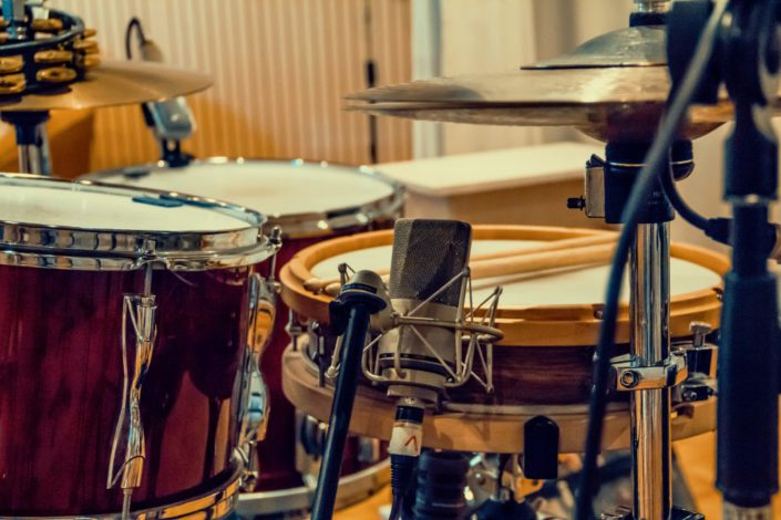 Hip-Hop Schlagzeug recording Snare mit Charly Beat im Tonstudio